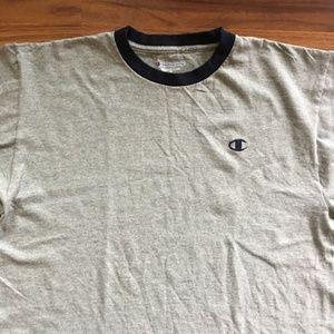 Champion Short Sleeve 2-Toned T-Shirt - Large